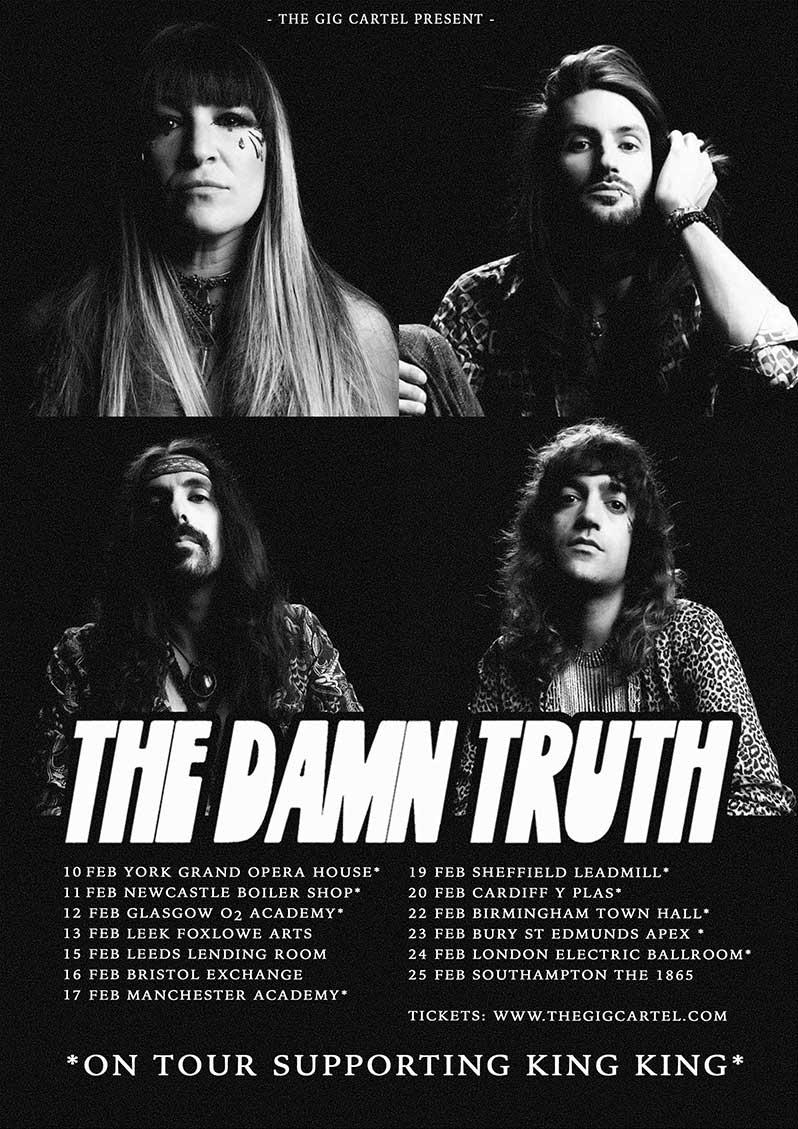 The Damn Truth Announce February 2022 UK Tour